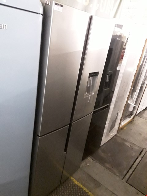 Lot 73 HISENSE STAINLESS STEEL FRENCH STYLE FRIDGE FREEZER - 79.4 CM - 431 LITRE RQ560N4WC1 RRP £679.00