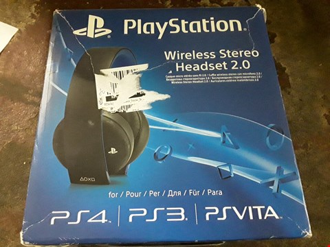 Lot 13127 OFFICIAL SONY WIRELESS STEREO HEADSET 2.0  RRP £115.00