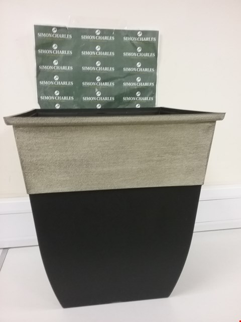 Lot 6037 HENDRIKS TALL SQUARE 17 INCH CHAMPAGNE PLANTER RRP £24.99