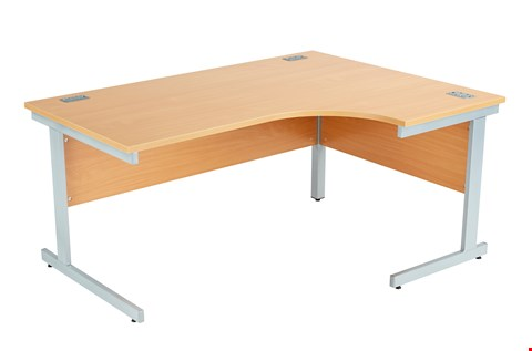 Lot 8007 BRAND NEW BOXED FRACTION PLUS RIGHT HAND 160 CORE WORKSTATION - BEECH WITH SILVER FRAME