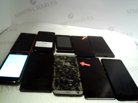 Lot 6118 LOT OF 10 ASSORTED MOBILE PHONES AND SMARTPHONES ETC