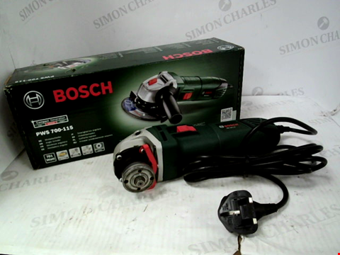 Lot 11057 BOSCH PWS-700-115 ANGLE GRINDER