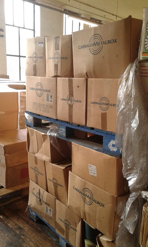 Lot 10031 PALLET OF ASSORTED ITEMS TO INCLUDE APPROXIMATELY 25 BOXES OF ASSORTED COTTON WOOLS INCLUDING COLOURS BROWN, WHITE, PINK, PURPLE