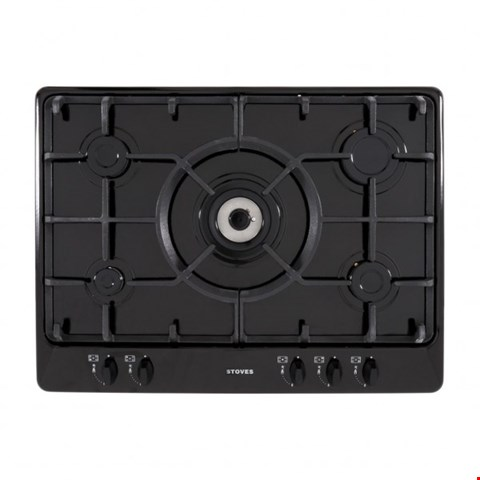Lot 12034 STOVES SGH700C BUILT IN 70CM GAS HOB IN BLACK