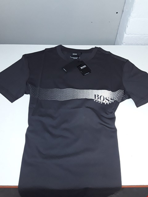 Lot 5638 BAGGED BRAND NEW HUGO BOSS MEN'S SLIM FIT T-SHIRT SIZE M IN BLACK