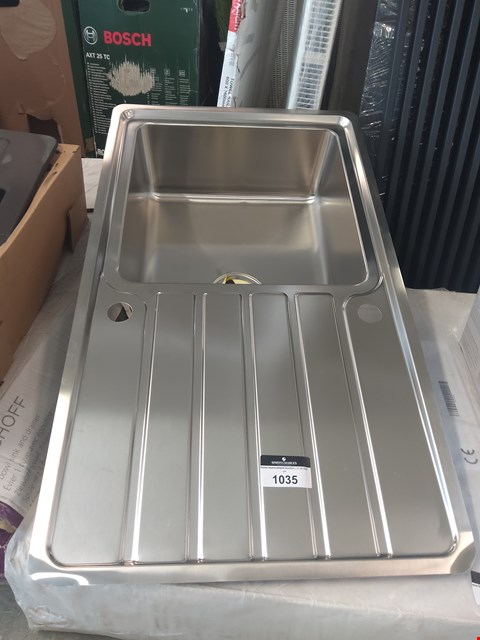 Lot 1035 SINGLE BOWL SINK AND DRAINER