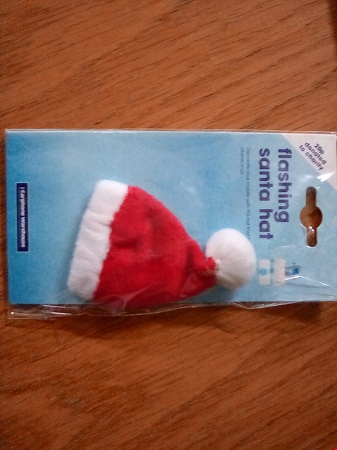 Lot 1097 A BOX OF APPROXIMATELY 50 FLASHING SANTA HATS FOR MOBILE PHONES
