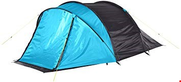 Lot 7531 BRAND NEW YELLOWSTONE BLUEBACK PEAK 3 DOME TENT WITH PORCH RRP £70.00
