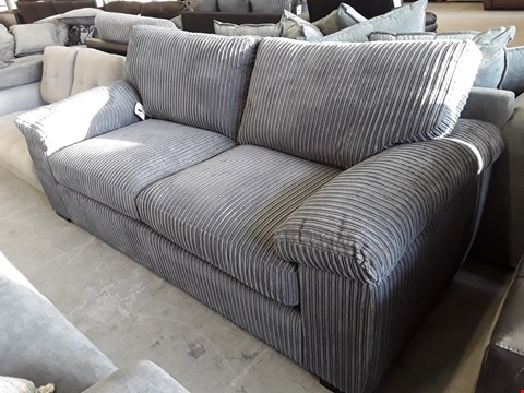 Lot 17 DESIGNER GREY JUMBO THREE SEATER SOFA