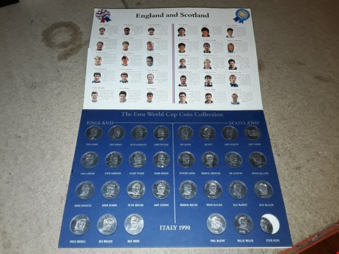 Lot 9160 ITALY 1990 THE ESSO WORLD CUP COIN COLLECTION