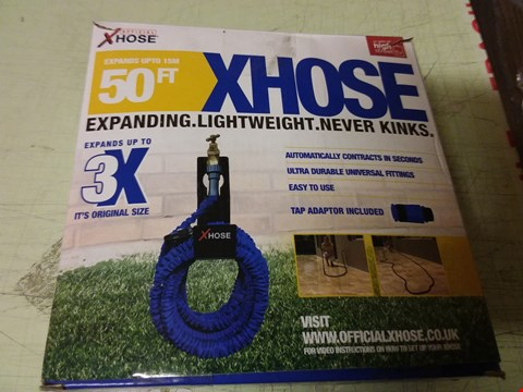 Lot 1210 A LOT OF 9 X BOXED XHOSE 50FT EXPANDING GARDEN HOSES