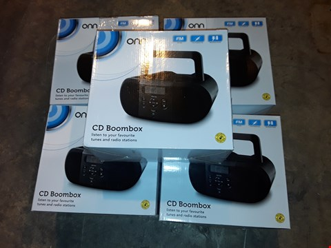 Lot 4640 LOT OF 5 ONN CD BOOMBOXES