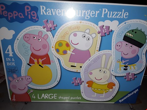 Lot 662 PEPPER PIG  ) LARGE SHAPED PUZZLE