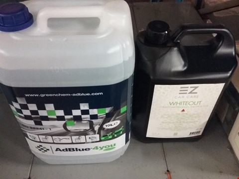 Lot 8171 EZ CAR CARE WHITEOUT AND GREEN CHEM ADBLUE 4YOU