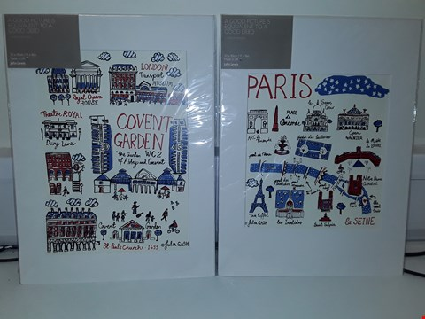 Lot 49 2 x LONDON + PARIS CITYSCAPE JULIA GASH PRINTS