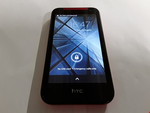 Lot 1059 HTC ANDROID MOBILE PHONE IN RED/BLACK