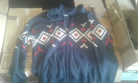 Lot 7039 APPROXIMATELY 7 X ALPINE KNIT ZIPPED FRONT HOODIES - NAVY