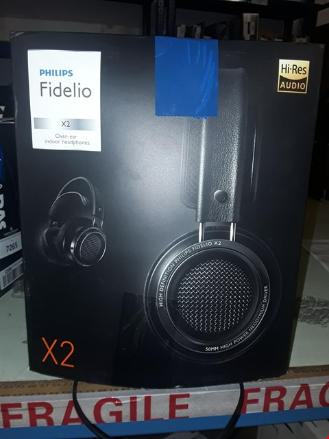 Lot 7270 PHILIPS FIDELIO X2 HI-RES HEADPHONES PREMIUM DESIGN (OVER-EAR, VELVET CUSHIONS, 3 M CABLE) - BLACK