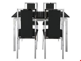 Lot 2017 BOXED GRADE 1 GLIDE EXTENDING CLEAR GLASS DINING SET (2 BOXES) RRP £479