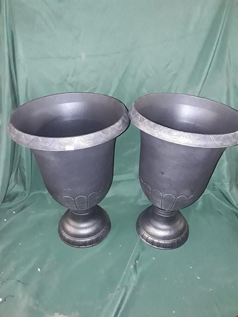 Lot 4385 BOXED PAIR OF CHAMPAGNE URN PLANTERS 57CM  RRP £37.99