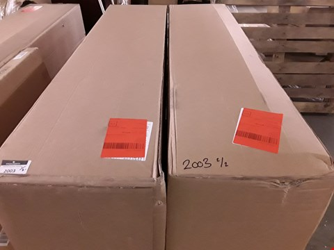 Lot 2003 DESIGNER BOXED AND BAGGED KING SIZE FABRIC DIVAN BASE (2 SECTIONS)