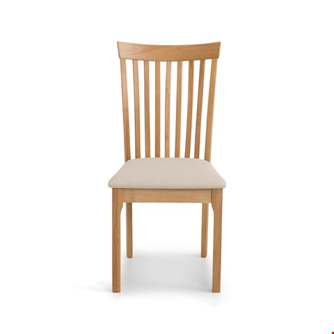 Lot 21 2 BOXED IBSEN LIGHT OAK DINING CHAIRS