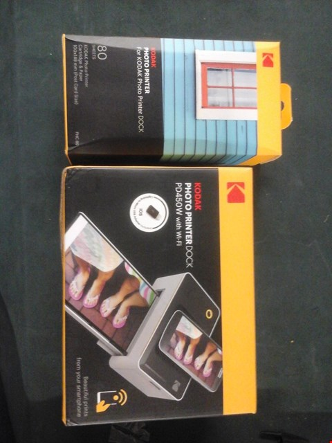 Lot 1015 BOXED KODAK PHOTO PRINTER DOCK PD450W WITH WIFI AND CARTRIDGE AND PAPER RRP £209