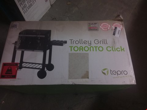 Lot 10058 TEPRO TORONTO CLICK MODEL 2019 BARBECUE TROLLEY ANTHRACITE/STAINLESS STEEL
