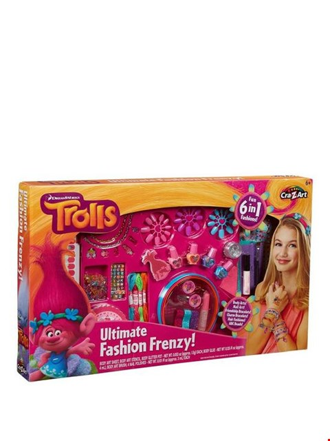 Lot 1654 BRAND NEW TROLLS 6 IN 1 FASHION FRENZY RRP £15