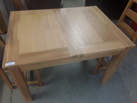 Lot 654 QUALITY MADE SOLID OAK EXTENDING DINING TABLE TOTAL SIZE APPROXIMATELY 1.6X0.9M  RRP £899.99