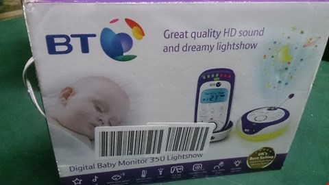 Lot 1442 BT DIGITAL BABY MONITOR 350 LIGHTSHOW  RRP £92.00