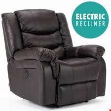 Lot 110 BOXED DESIGNER SEATTLE BROWN LEATHER MANUAL RECLINING EASY CHAIR  RRP £349.99