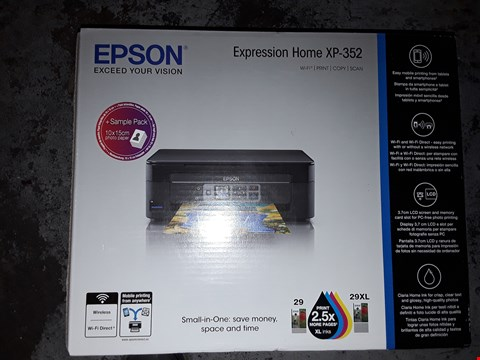 Lot 110 BOXED EPSON HOME XP-352 WI-FI/PRINT/COPY/SCAN  RRP £39.66