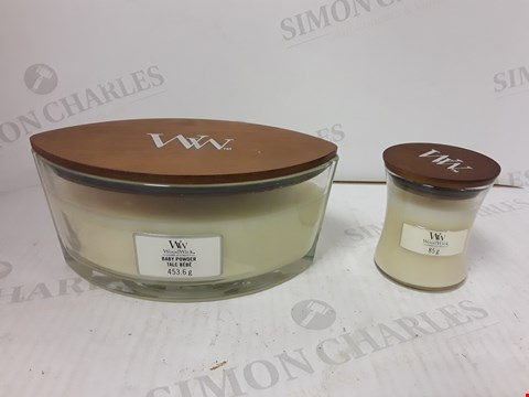 Lot 845 WOODWICK SET OF 2 BABY POWDER CANDLES