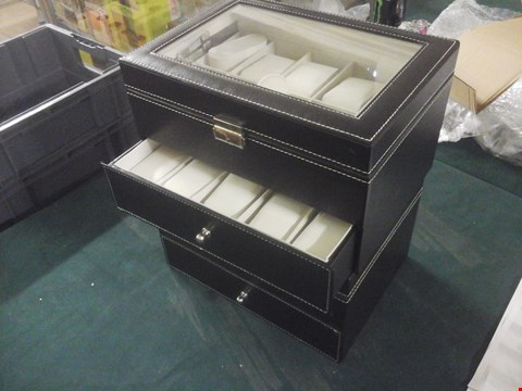 Lot 1063 2 X FAUX LEATHER JEWELLERY BOXES