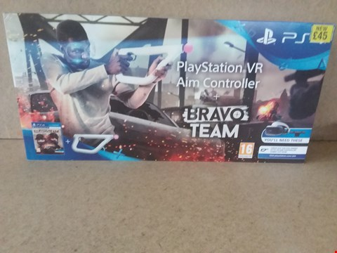 Lot 41 BRAND NEW BOXED PLAYSTATION VR AIM CONTROLLER + BRAVO TEAM FOR PS4