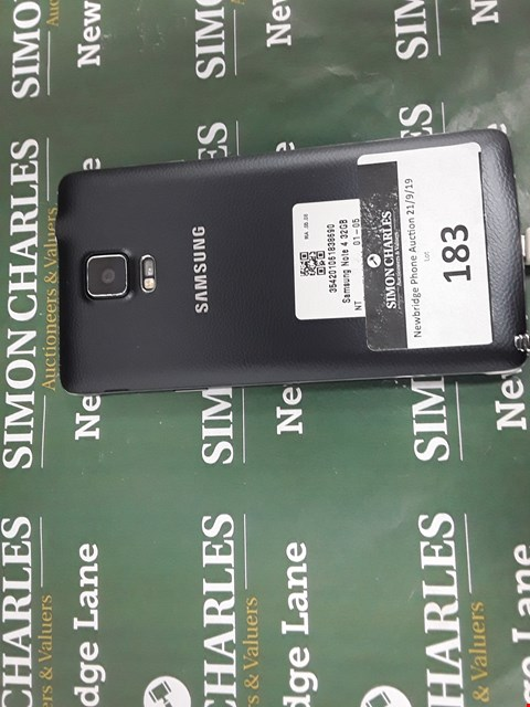Lot 183 SAMSUNG NOTE 4 32GB MOBILE