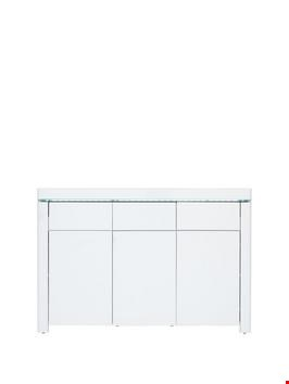 Lot 7010 BOXED GRADE 1 ATLANTIC WHITE COMPACT SIDEBOARD (1 BOX) RRP £179.00