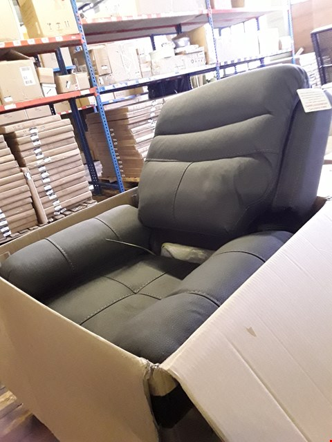 Lot 5007 BOXED CONWAY GREY RECLINING ARMCHAIR (1 BOX)