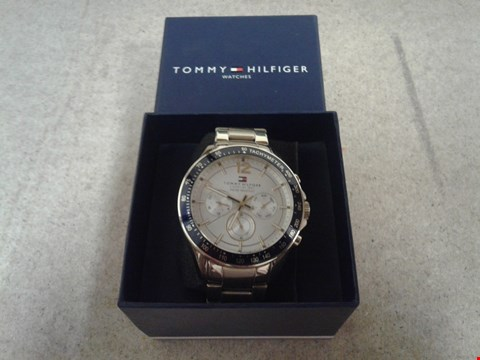 Lot 9033 TOMMY HILFIGER MULTI EYE BLUE BEZEL BRACELET WATCH  RRP £300.00