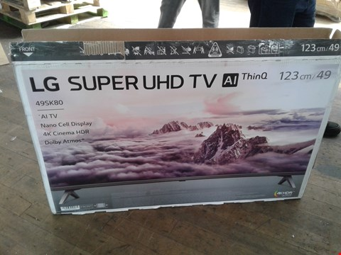 "Lot 1096 LG 49"" SUPER UHD AI THINQ TV"