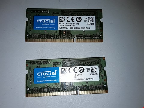 Lot 506 CRUCIAL 8GB DDR3L (2 X 4 GB)