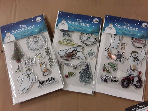 Lot 747 BOX OF APPROXIMATELY 100 THE SNOWMAN STAMP ASSORTMENT