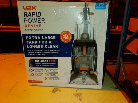 Lot 5490 VAX RAPID POWER REVIVE CARPET WASHER