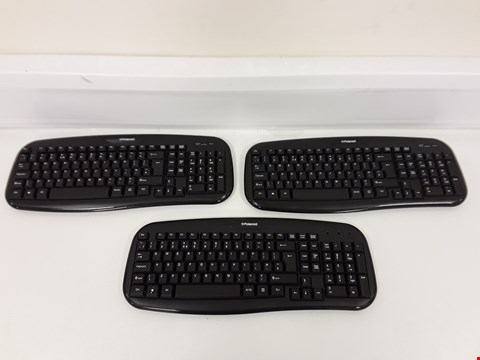 Lot 264 LOT OF 3 ASSORTED POLAROID WIRELESS KEYBOARDS