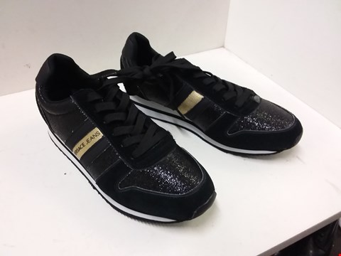 Lot 9014 VERSACE STYLE TRAINERS - BLACK SIZE 6.5