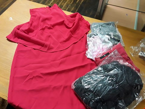 Lot 8054 LOT OF APPROXIMATELY 10 ASSORTED DESIGNER CLOTHING ITEMS TO INCLUDE YAS SANDI RED DRESS, RED BAKER CAMO TOP AND GREY NIKE TRAINING TOP
