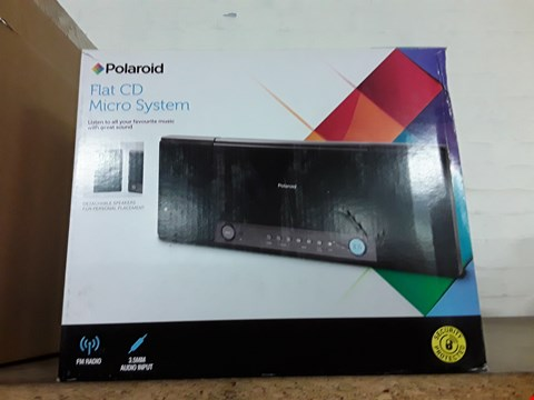 Lot 1177 BOXED POLARIOD FLAT CD MICRO SYSTEM  RRP £17