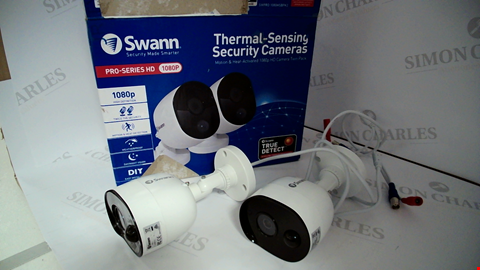 Lot 17125 SWANN 1080P THERMAL SENSING SECURITY CAMERAS