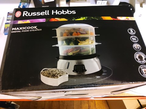 Lot 9 BOXED RUSSELL HOBBS MAXICOOK DIGITAL FOOD STEAMER
